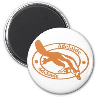 Adelaide Stamp 2 Inch Round Magnet
