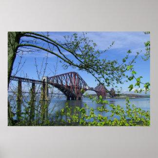 Adelante el puente del carril póster