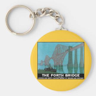 Adelante el puente - ferrocarril del noreste llavero redondo tipo pin