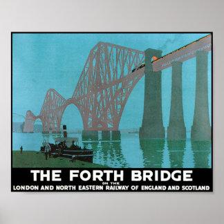 Adelante el puente - ferrocarril del noreste póster
