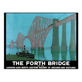 Adelante el puente - ferrocarril del noreste tarjetas postales