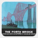 Adelante el puente pegatina cuadradas personalizadas