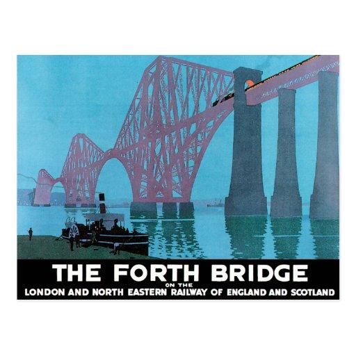 Adelante el puente tarjetas postales