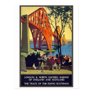 Adelante puente - arte del poster del viaje del postal
