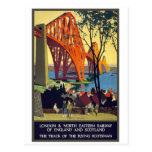 Adelante puente - arte del poster del viaje del vi tarjeta postal