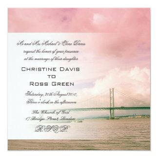 Adelante puente del camino, invitación del boda de