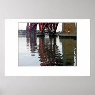 Adelante reflexiones del puente póster