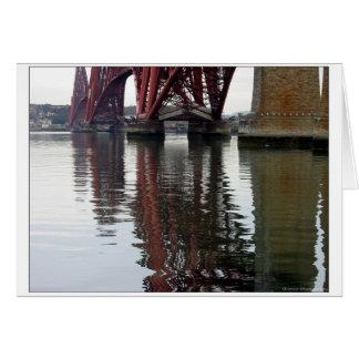 Adelante reflexiones del puente tarjeta de felicitación