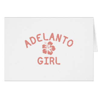 Adelanto Pink Girl Greeting Card
