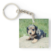 Adele 6wks Double Photo Keepsake Keychain