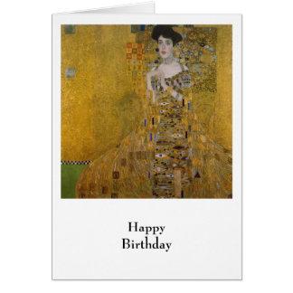 Adele Bloch Bauer by Gustav Klimt Card