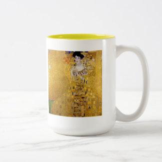 """Adele Bloch-Bauer's Portrait"" and Gustav Klimt Two-Tone Coffee Mug"