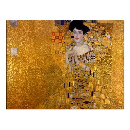 Adele Bloch-Bauer's Portrait by Gustav Klimt 1907 Post Cards