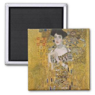 Adele Bloch-Bauer's Portrait  by Gustav Klimt 2 Inch Square Magnet