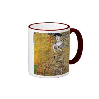 Adele Bloch-Bauer's Portrait by Gustav Klimt Ringer Coffee Mug