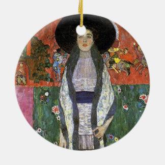 Adele Bloch by Gustav Klimt art nouveau art Ceramic Ornament