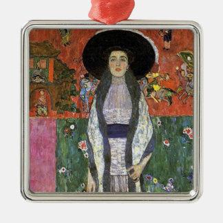 Adele Bloch by Gustav Klimt art nouveau art Metal Ornament