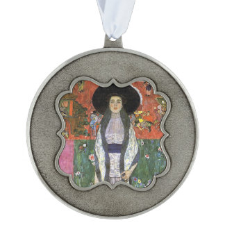 Adele Bloch by Gustav Klimt art nouveau art Pewter Ornament