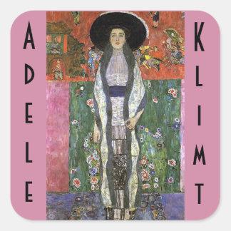 Adele Bloch by Gustav Klimt art nouveau art Square Sticker