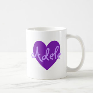 Adele in Purple Coffee Mug