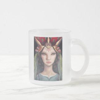 Adele 10 Oz Frosted Glass Coffee Mug