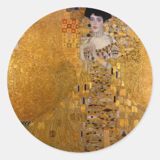 Adele, The Lady in Gold - Gustav Klimt Classic Round Sticker