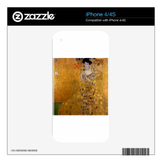 Adele, The Lady in Gold - Gustav Klimt iPhone 4 Skins