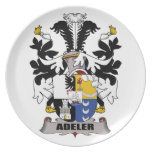 Adeler Family Crest Party Plate
