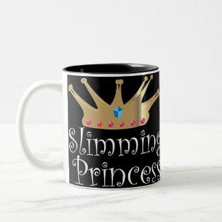 Adelgazar a la princesa taza de dos tonos