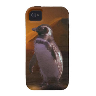 Adelie Penguin & Antarctic Sunset Vibe iPhone 4 Cover
