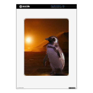 Adelie Penguin & Antarctic Sunset Decal For iPad