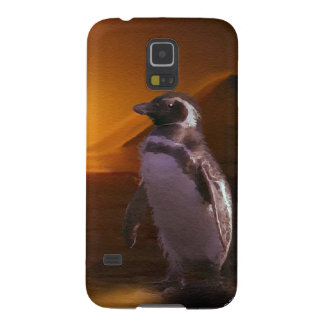 Adelie Penguin & Antarctic Sunset Galaxy S5 Cover