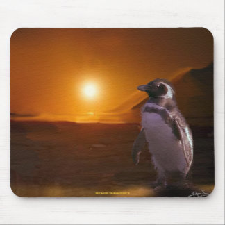 Adelie Penguin & Antarctic Sunset Mouse Pad