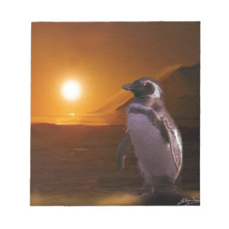 Adelie Penguin & Antarctic Sunset Notepad
