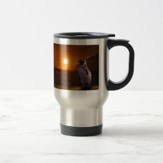 Adelie Penguin & Antarctic Sunset Travel Mug