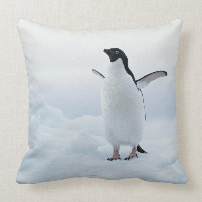 Adelie Penguin Antarctica Throw Pillow Zazzle Com
