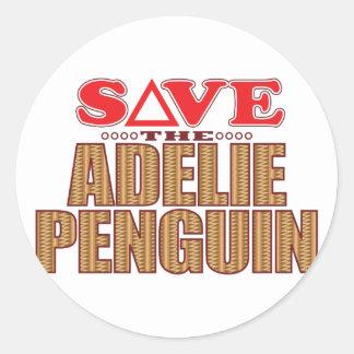 Adelie Penguin Save Classic Round Sticker