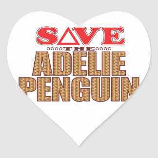 Adelie Penguin Save Heart Sticker