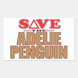 Adelie Penguin Save Rectangular Sticker