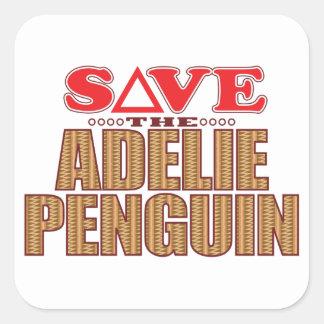 Adelie Penguin Save Square Sticker