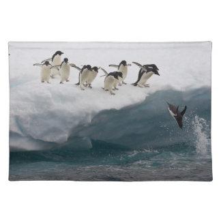 Adelie Penguins diving into sea Paulette Placemat