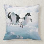 Adelie penguins (pygoscelis adeliae) Antarctica Throw Pillow
