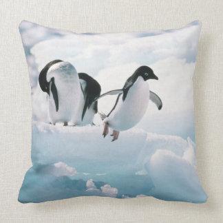 Adelie penguins (pygoscelis adeliae) Antarctica Pillow