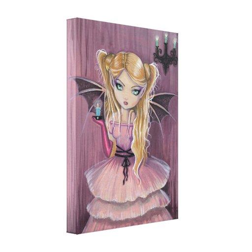Adelina en la impresión gótica rosada de la lona d impresiones en lienzo estiradas