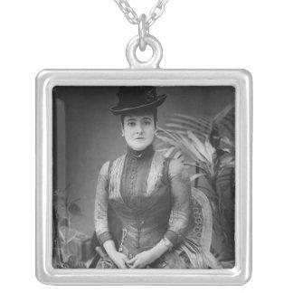 Adelina Patti, 1880 Square Pendant Necklace