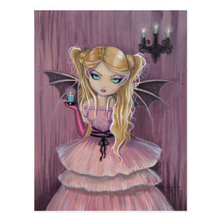 Adeline in Pink Gothic Vampire Fairy Postcard