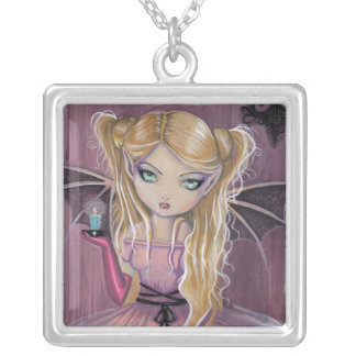 Adeline in Pink Little Goth Vampire Necklace