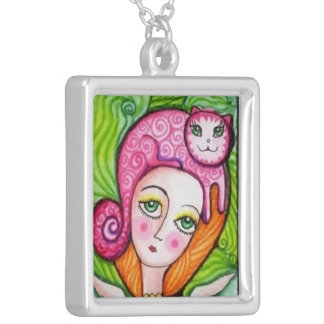 Adelita Cat's Silver Plated Necklace