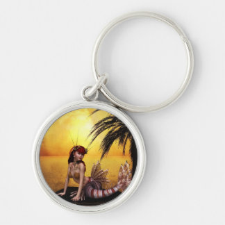 Adelle Silver-Colored Round Keychain