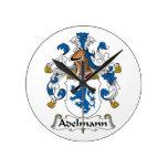 Adelmann Famiy Crest Round Wallclock